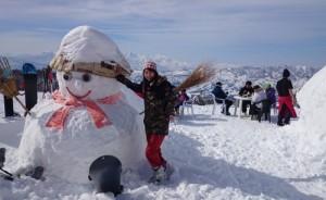 第10回野宿会ブナの雪だるま