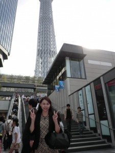 東京スカイツリーにて