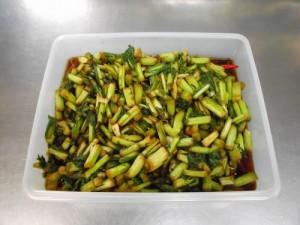 手作り「野沢菜漬け」