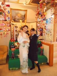 紗緒里入学式母と娘で