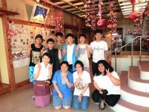 タイからの留学生達と