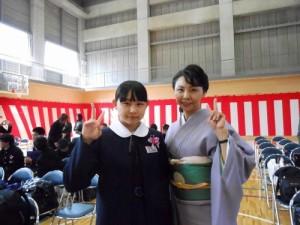 紗緒里の卒業式①